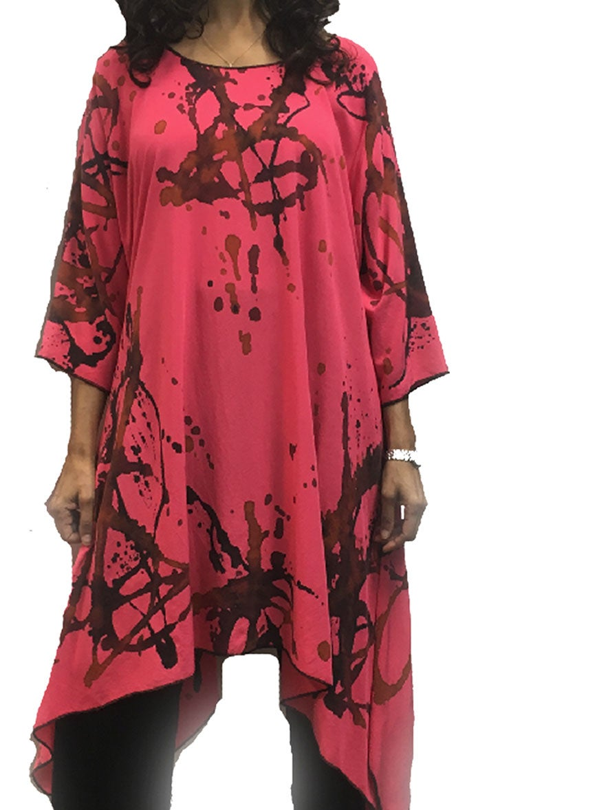 Image of Coral Frida Dress-Tunic - Silky Smooth Rayon