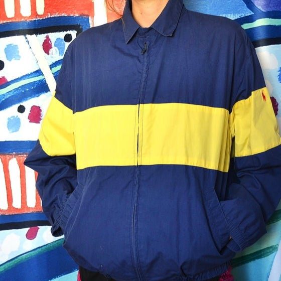 Image of Vintage 1980's Ralph Lauren Polo Striped Lightweight Jacket Sz.S