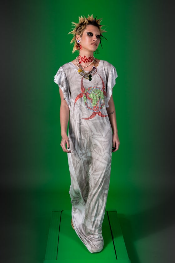 Image of Toxic World Distressed Bling Dress