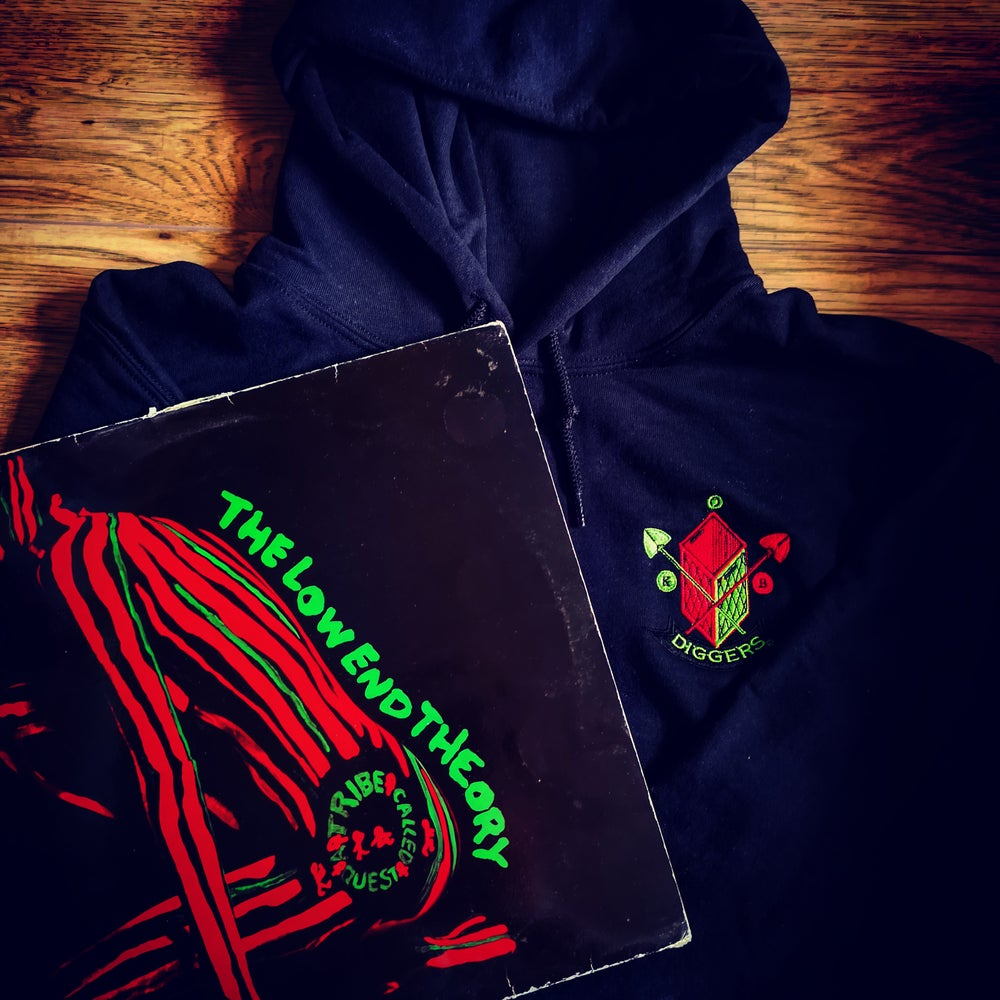 Image of Custom Hand Made Embroided Logo Hoodie