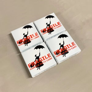 """Image of """"Fragile"""" (Mary Poppins) Mini Canvas Edition of 4"""