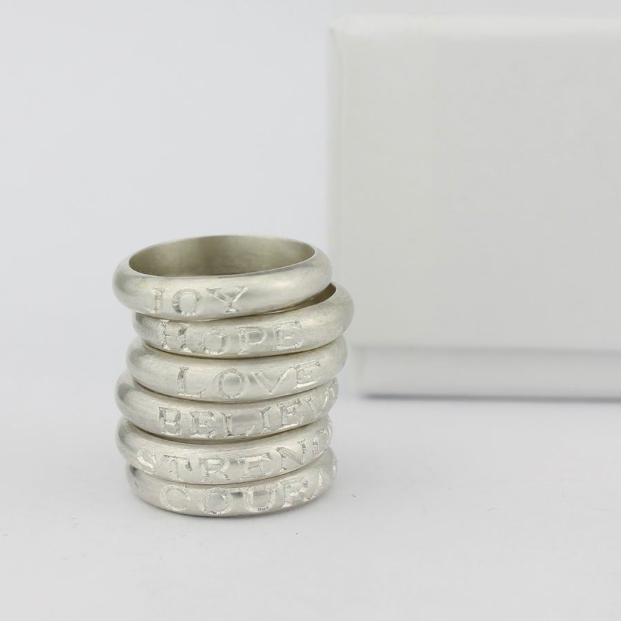 Image of BELIEVE ring PRE-ORDER