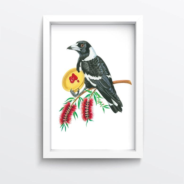 Image of Peckish Mag-pie Giclée Print