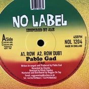 "Image of Pablo Gad - 'Row' No label recods (New Uk Roots 12"" vinyl)"