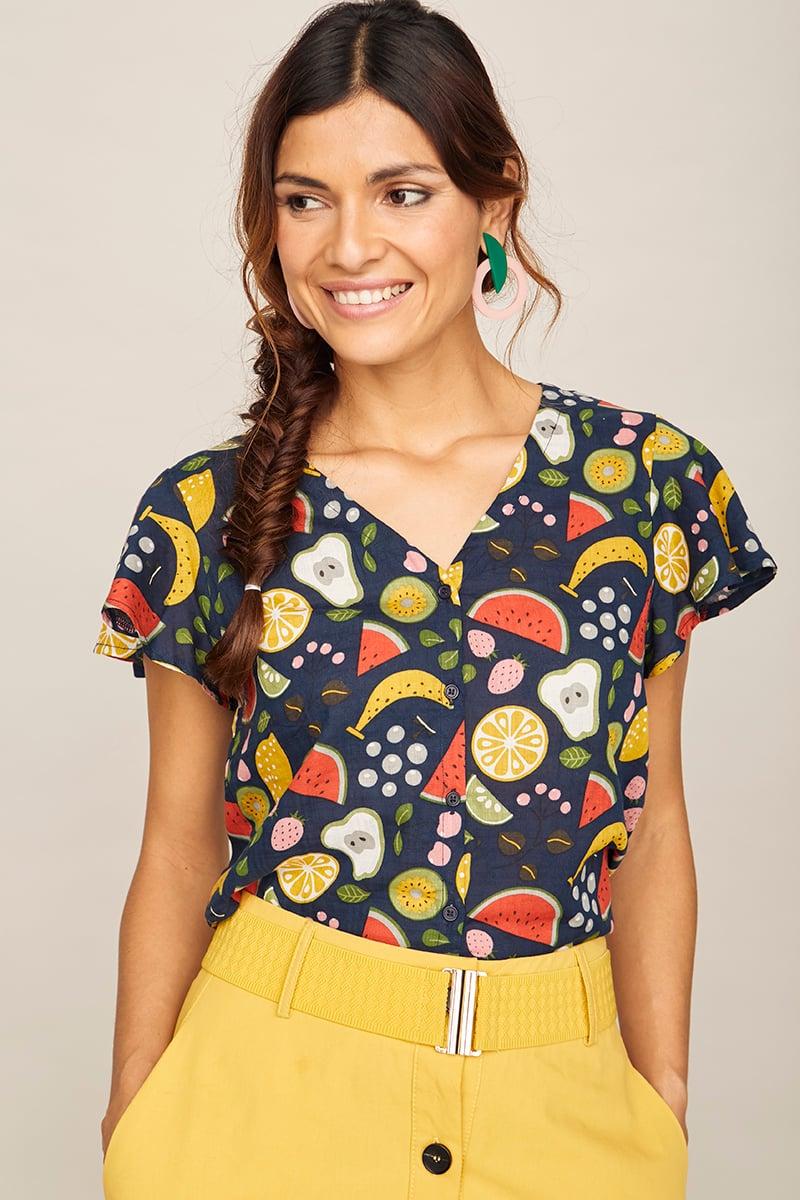 Image of Camisa Mora frutas marina