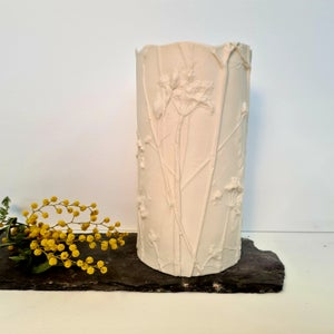 Candle Cover Cow Parsley and Grasses