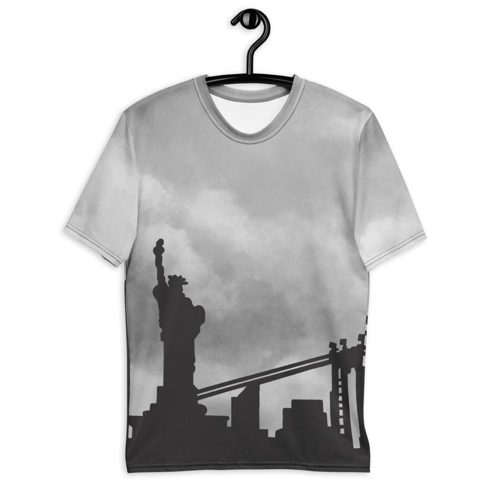 Image of City Skyline T-shirt Gray (NYC)