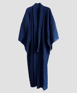 Image of Kimono til herre - i blå og sort med struktur mønster