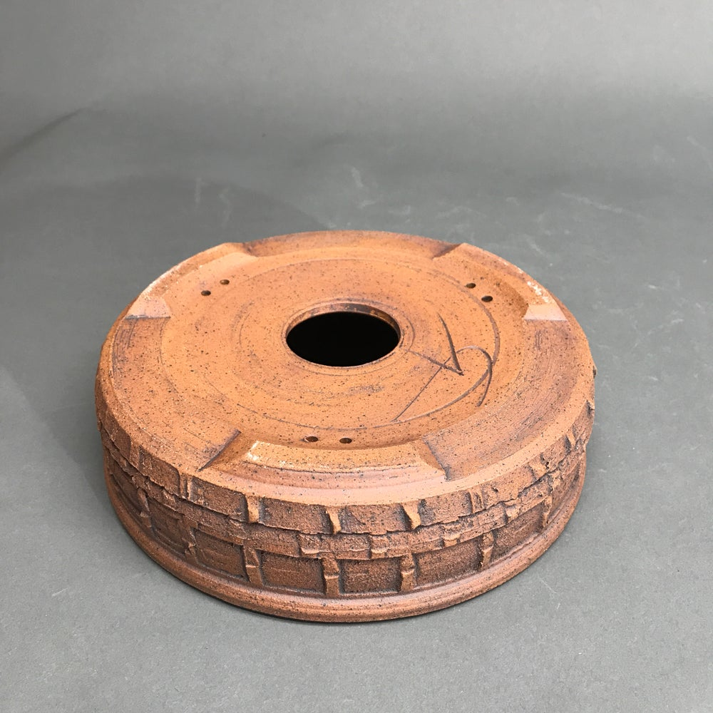 Image of 351 Unglazed Textured Bonsai pot