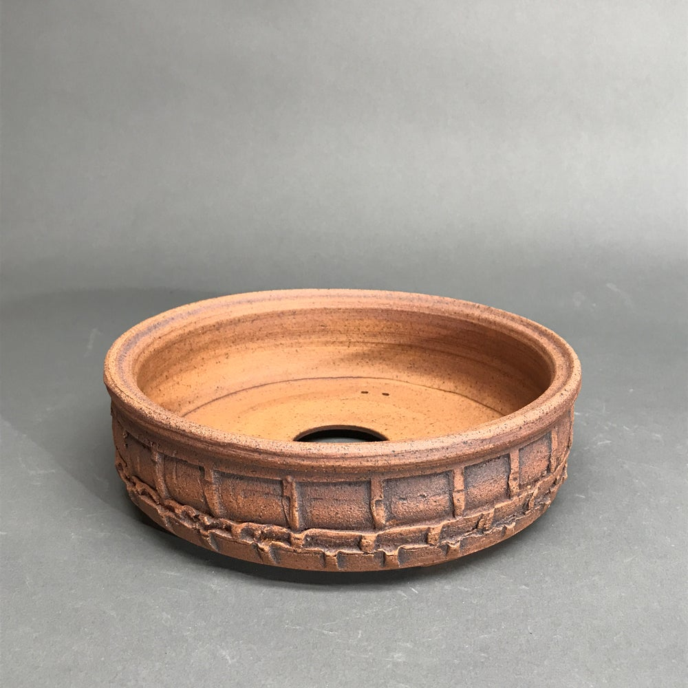 Image of 351 Unglazed Textured Bonsai pot