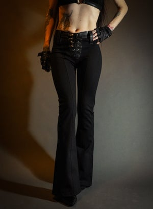 Image of Toxic Vision Carbon flared bullet pants MULTI SIZE