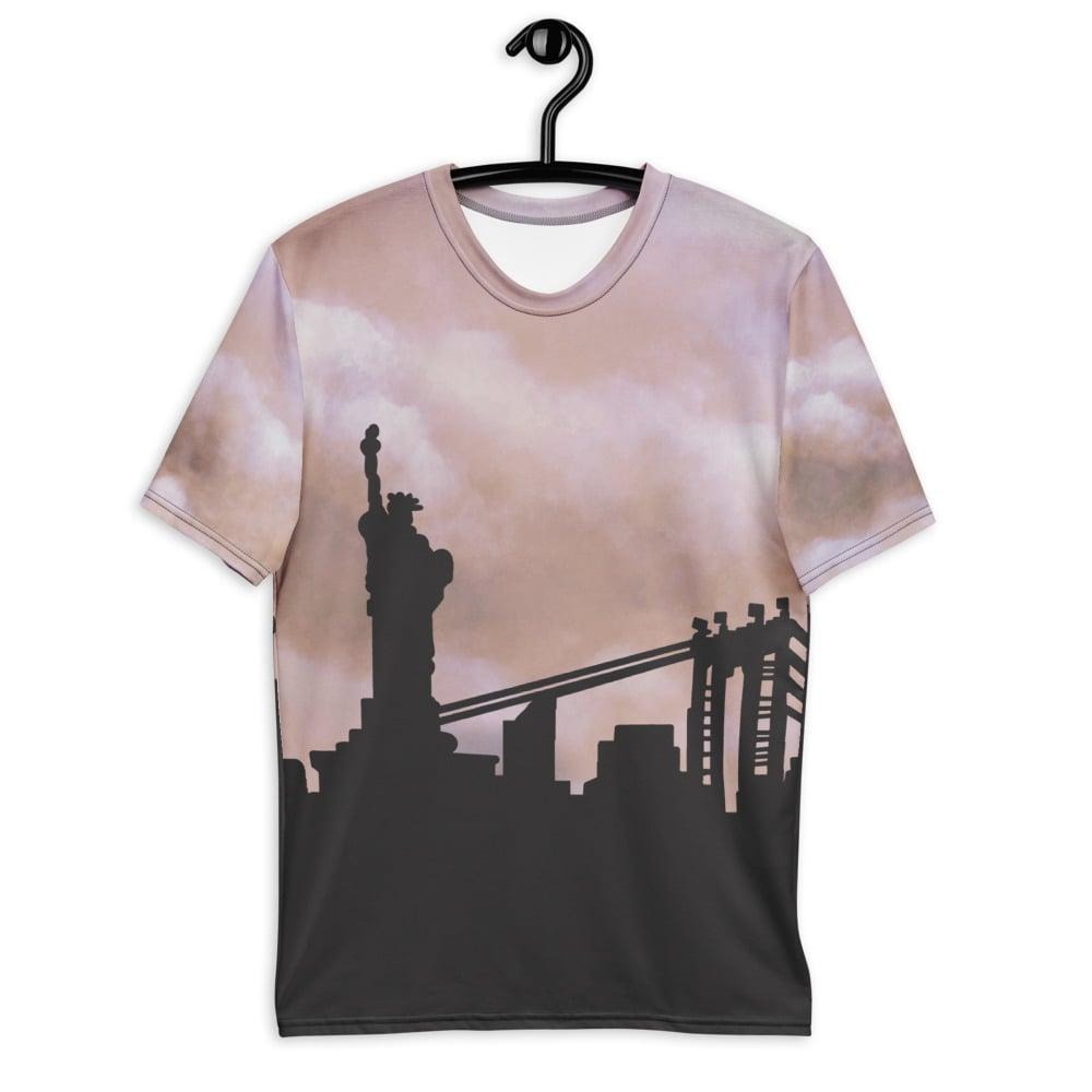 Image of City Skyline T-shirt Tan (NYC)