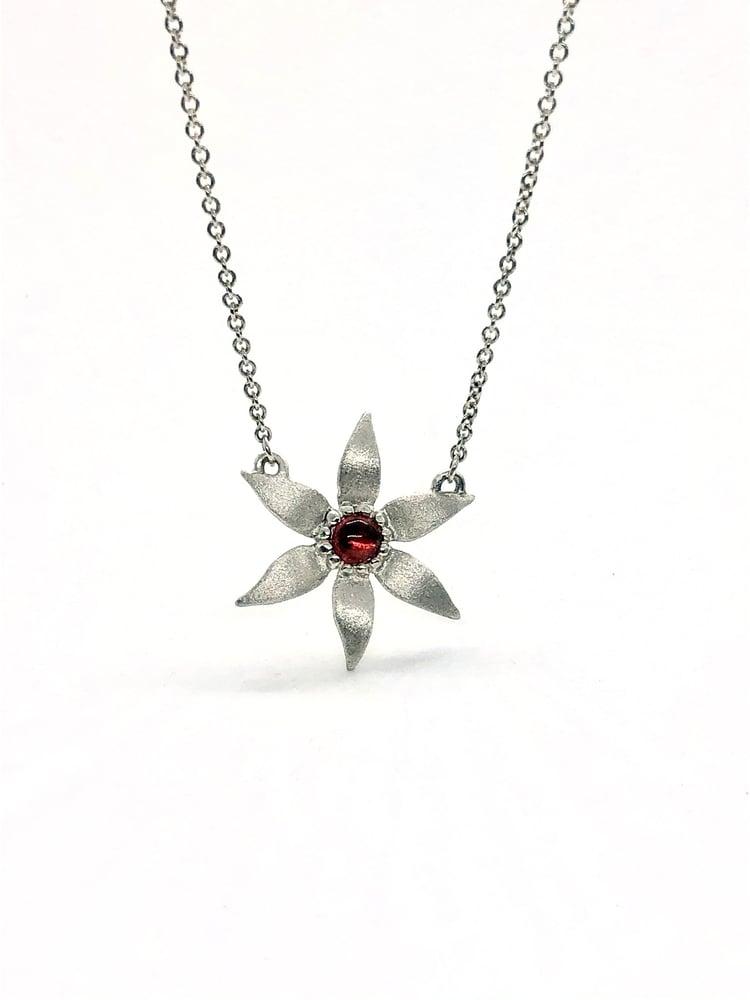 Image of Star Flower with Garnet