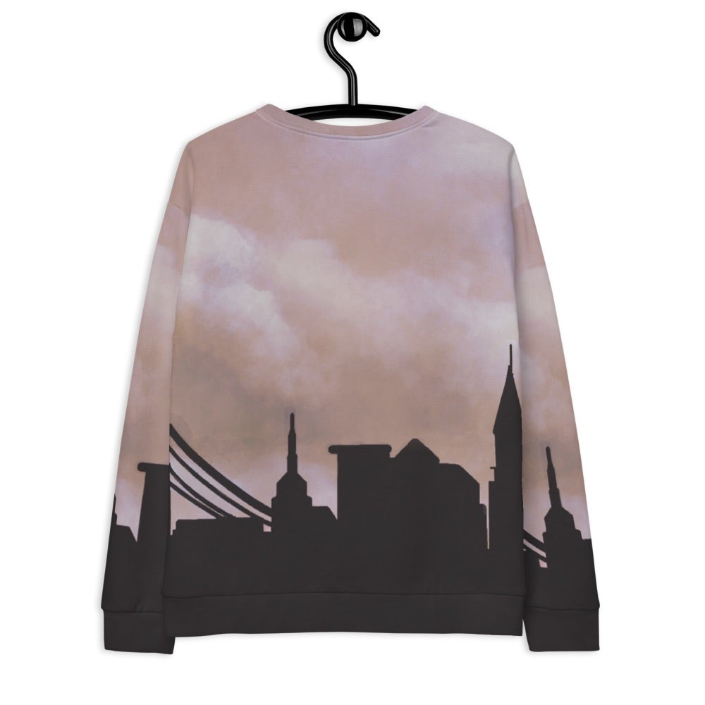 Image of City Skyline Sweatshirt Tan