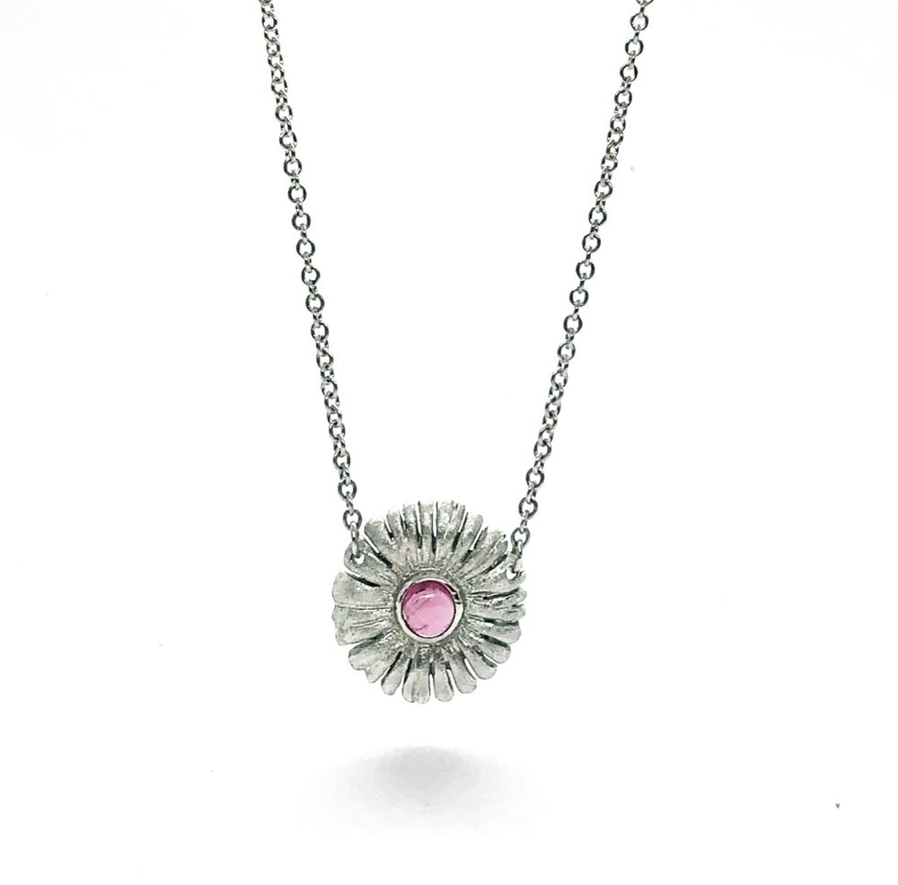 Image of Sunflower with Pink Tourmaline