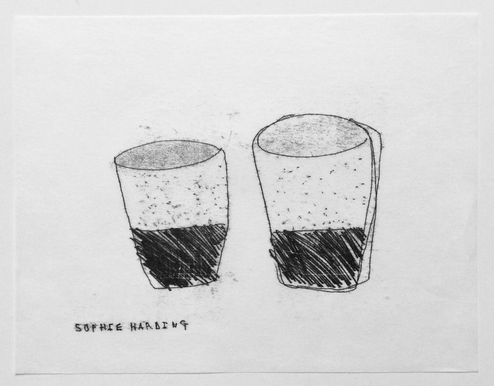 Image of Two Handmade Cups monotype