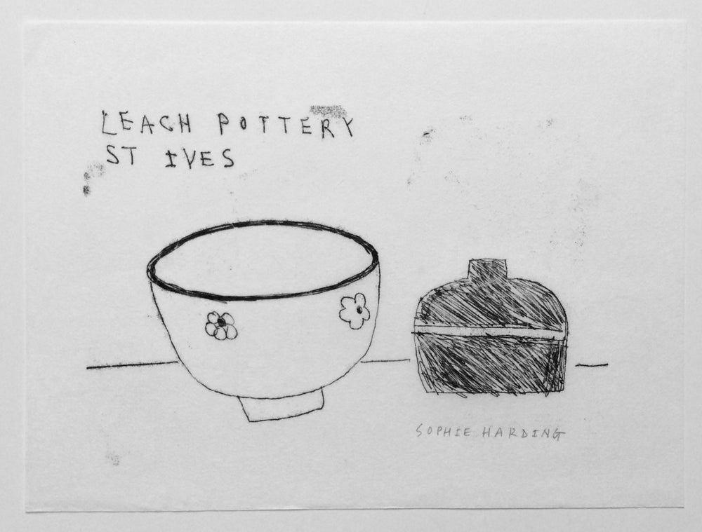 Image of Leach Pottery, St Ives monotype