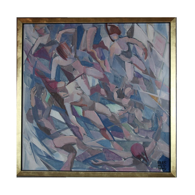 Image of 1979, Oil painting, 'Prispatic Rhythm', Ebbe Höglund (1914–1993)
