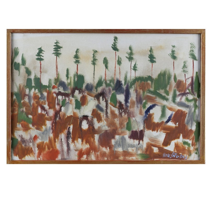 Image of Mid 20thC,  Oil Painting, Abstract Landscape, NILS SÖDERBERG