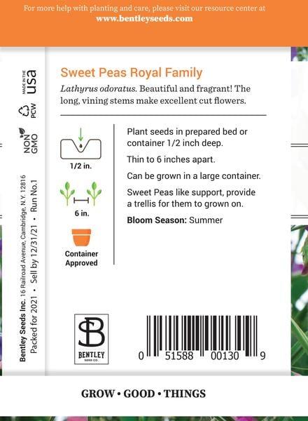 SEEDS - SWEET PEA: ROYAL FAMILY