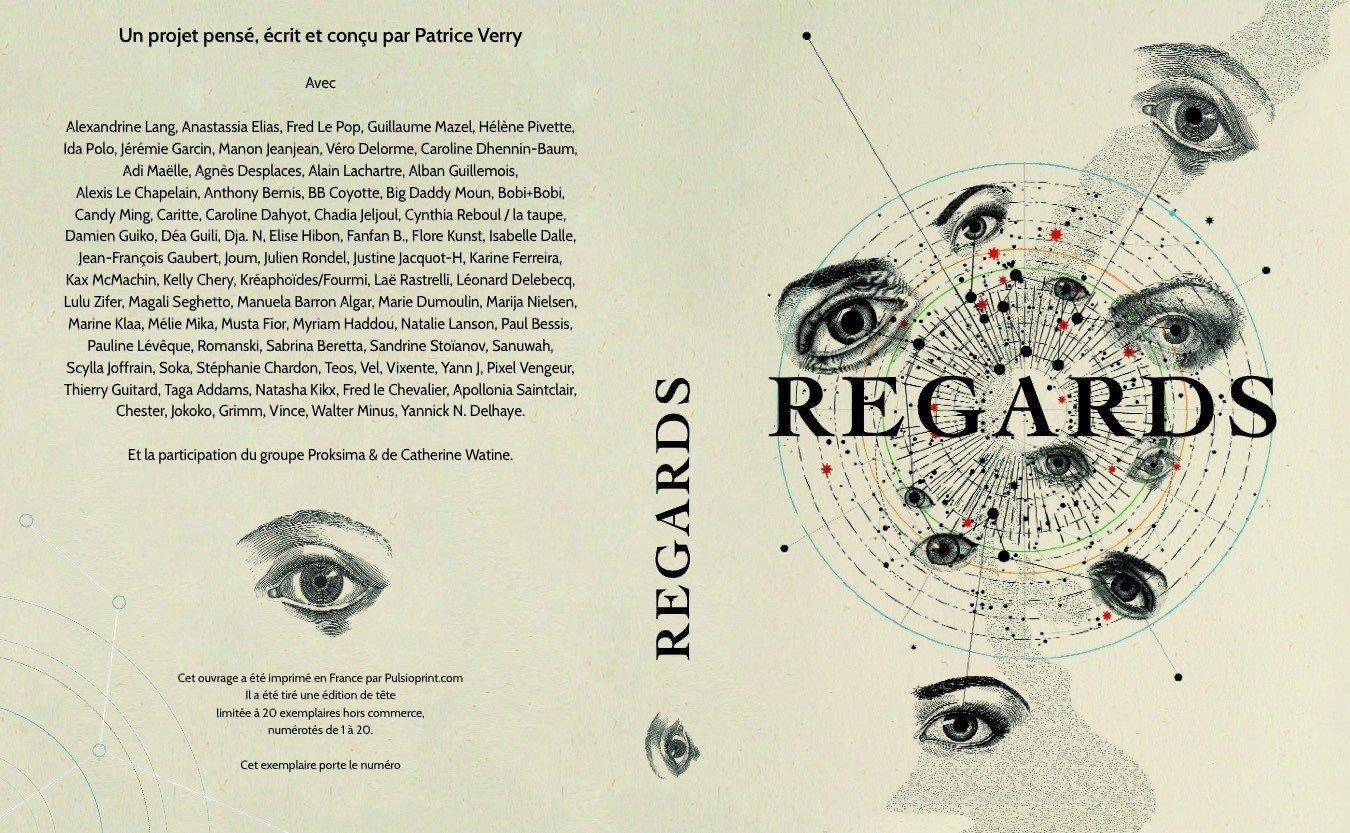 Image of Regards. LIVRE COLLECTOR avec l'écrin noir et numéroté. Anthologie illustrée/ 80 artistes !