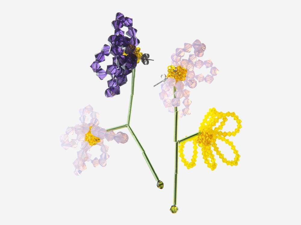Image of Ohrringe Viola Tricolor