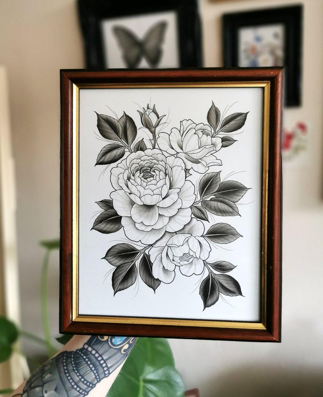 English Rose Painting