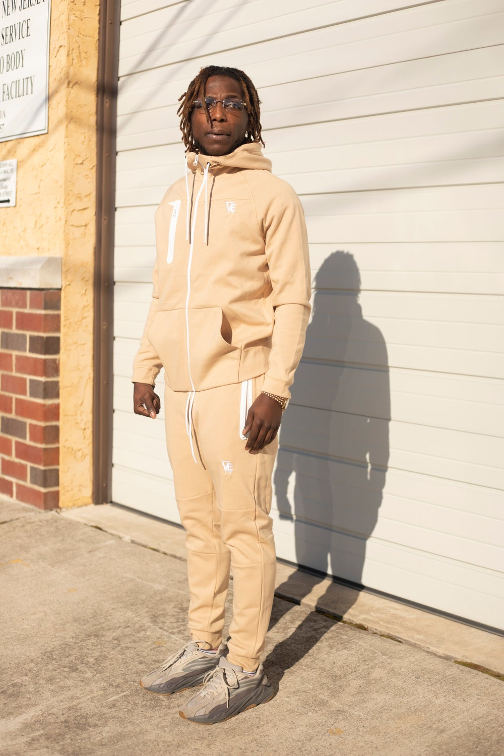 Tan VE Drip Tech Sweatsuit