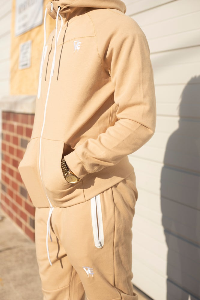 Image of Tan VE Drip Tech Sweatsuit
