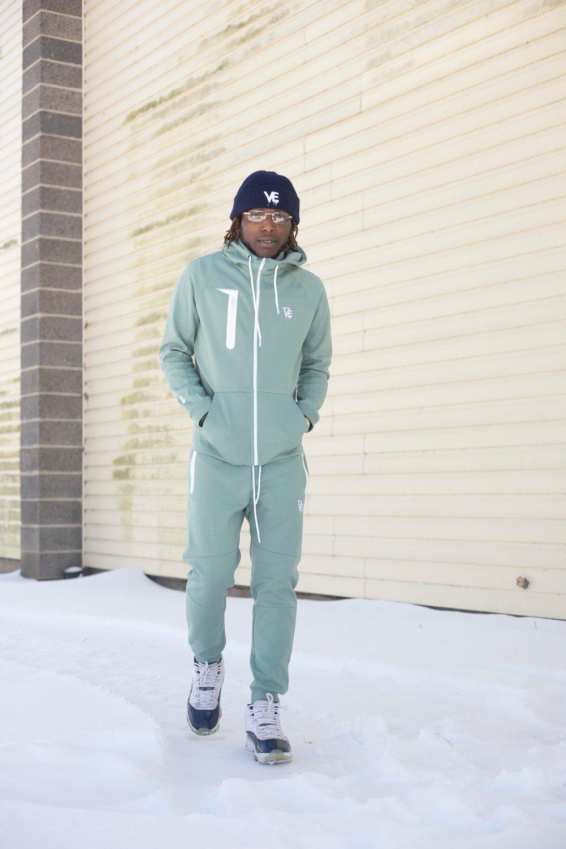 Image of Mint VE Drip Tech Sweatsuit