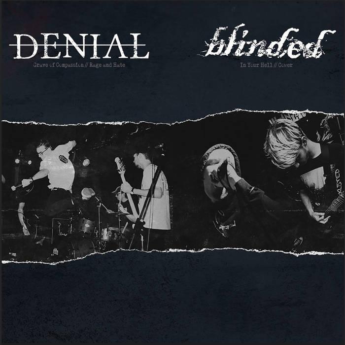 """Image of Denial / Blinded """"Split"""" 7"""" (White)"""