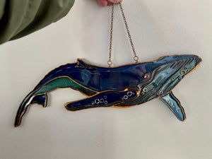 Image of Birch and Resin Light Catcher - Humpback Whale