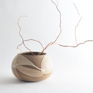 Image of stoneware globe vessel
