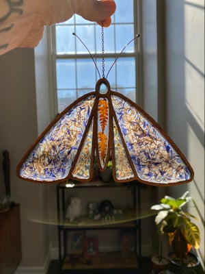 Image of Birch, Resin and Pressed Flower Light Catcher - Moth
