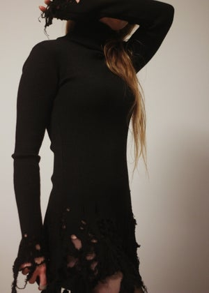Image of KULTCHEN SHREDDED TURTLE NECK WOOL SWEATER