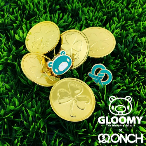 Image of Lucky Gloomy Bear Claw/Pins (Lucky Green edition)