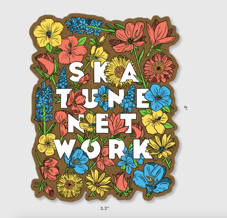 Image of FLOWERS | Kraft Paper Sticker