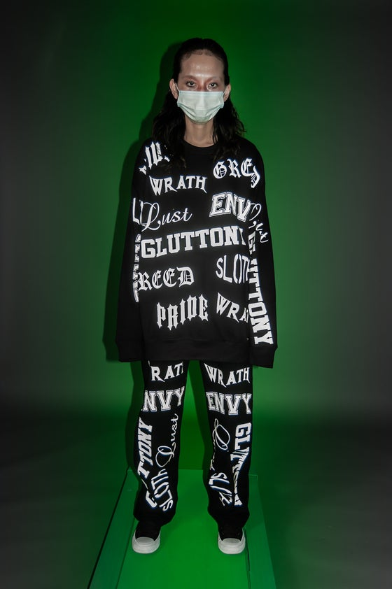 Image of 7 Deadly sins unisex crew neck & Jeans