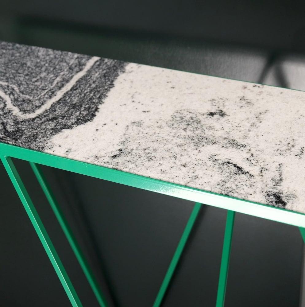 Image of Giraffe console table granite top