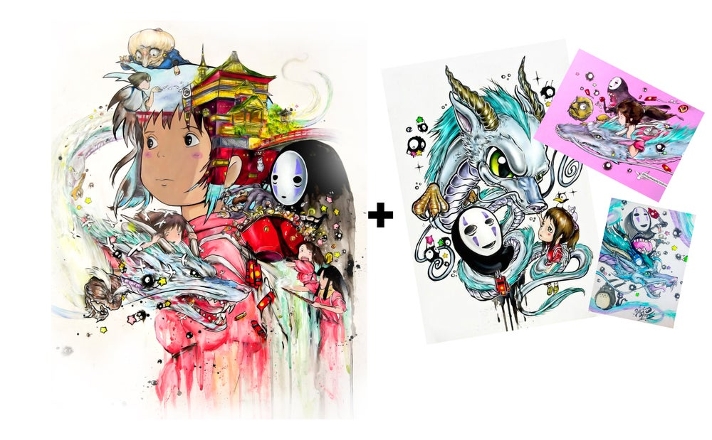 """Image of Limited Edition """"Spirited Away 2.0"""" Holographic Print Pack"""
