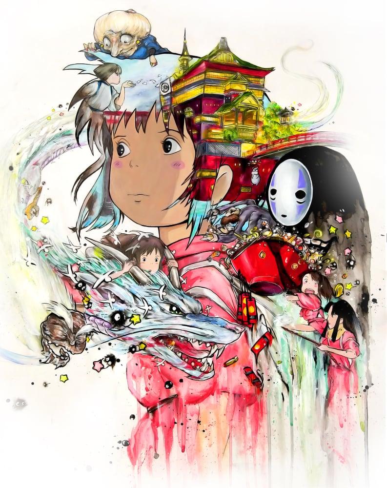 "Image of ""Spirited Away 2.0"" Original Painting"