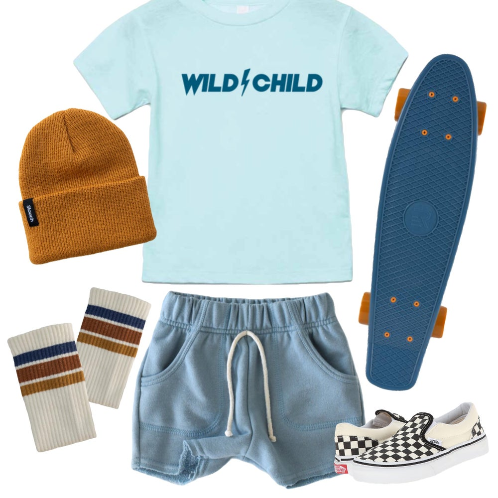 Image of WILD CHILD TEE (ICE BLUE)