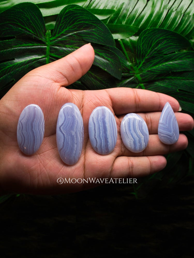 Image of Blue Lace Agate Cabochons