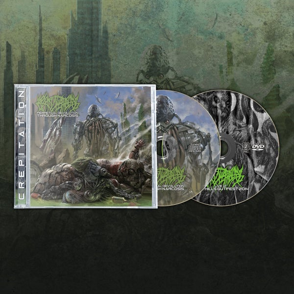 Image of CREPITATION - Perpetual Devolution Through Narcosis CD/DVD