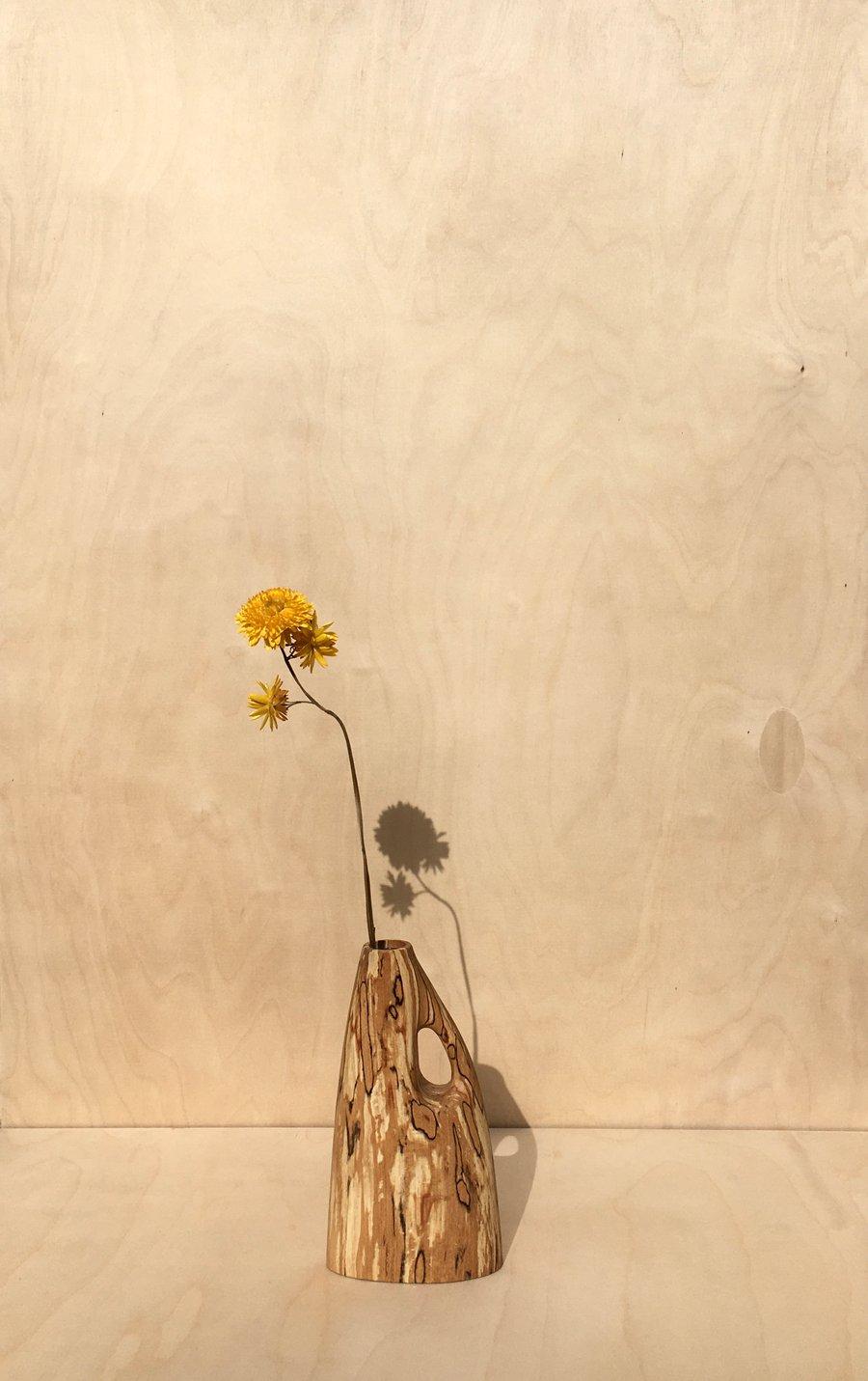 Image of vase #2 en hêtre