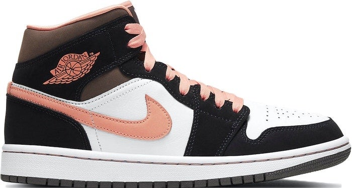 "Image of Nike Retro Air Jordan 1 Mid Wmns ""Peach Mocha"" Sz 11W/9.5M"