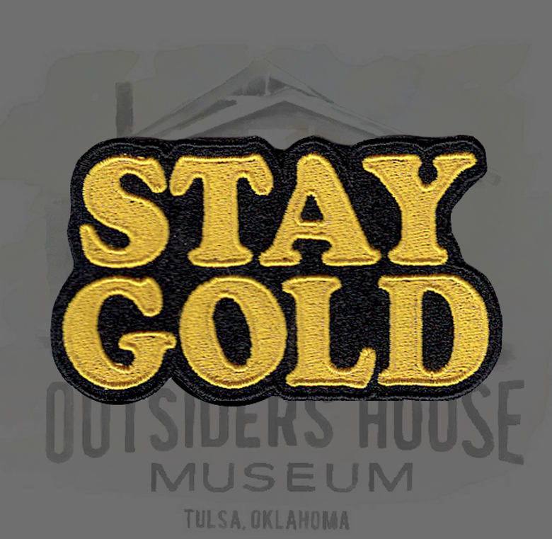Image of STAY GOLD patch.