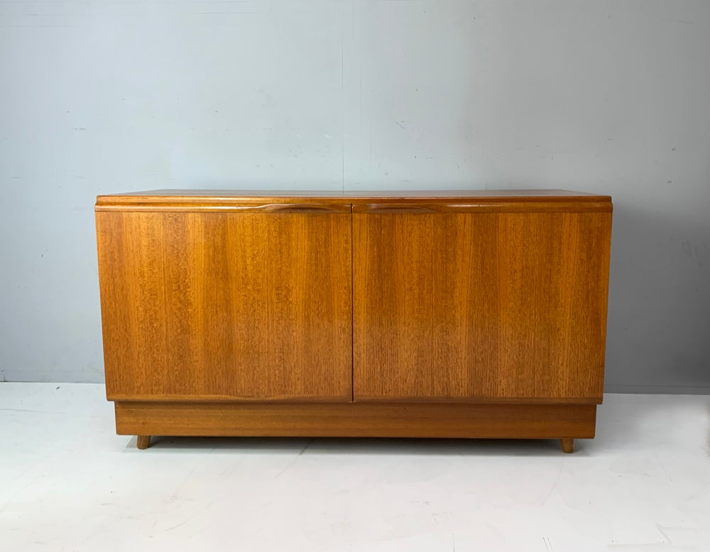 Image of 1970's English mid century compact low sideboard