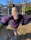 Jewel hoodie kimono dark purples