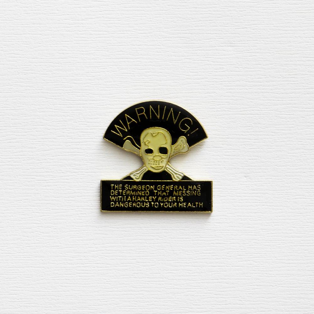Image of Vintage Harley Davidson Skull Enamel Pin